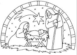Free Nativity Coloring Pages To Print Coloringstar