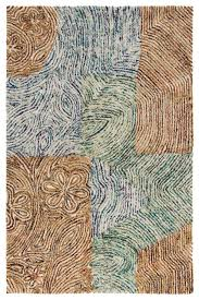 chandra twister twi25100 rug brown white green blue contemporary area rugs by arearugs