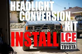 LCE Headlight Conversion Kit On A 1986 Toyota 4Runner - YouTube