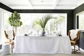 dining room table cloth. Black And White Dining Room With Grasscloth Table Cloth O