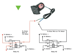 tilt trim motor tips arco terminal 87a and 30 are connected when the relay is in the off position this allows the blue wire to be connected to battery negative