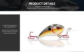 TREHOOK 4cm 5g Topwater <b>Mini Crankbaits Fishing Lure</b> Artificial ...