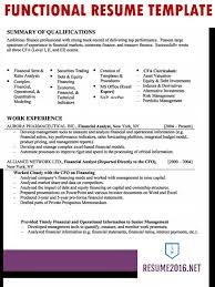 Functional Resume Sample 2016 Experience Resumes