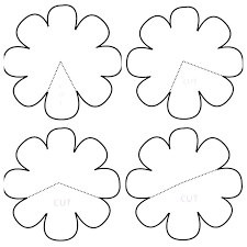 Free Paper Flower Templates Printable Free Rose Paper Flower Template Designtruck Co