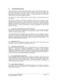 Startup Business Plan Sample Startup Business Plan Template 2