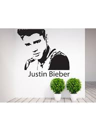 Justin Bieber Design Shop Spoil Your Wall Justin Bieber Wall Sticker Black 80x80 Centimeter Online In Dubai Abu Dhabi And All Uae