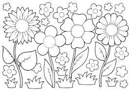 Disegno Di Fiori Primaverili Per Bambini Da Stampare Gratis E Colorare