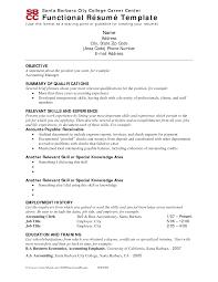 Resume Template Template Functional Resume Free Career Resume