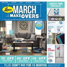 Leons Furniture Kitchener Leons Weekly Flyer March Makeovers Mar 2 29 Redflagdealscom