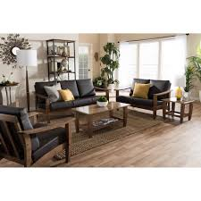 Tufted Living Room Set Furniture Comfortable Living Room Sofas Design With Faux Leather