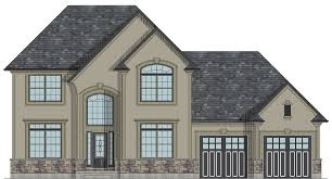 CANADIAN HOME DESIGNS   Custom House Plans  Stock House Plans    Richmond Hill two storey house plan
