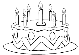 Small Picture Coloring Page Birthday Cake Birthday Color nebulosabarcom