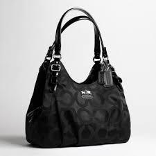 Lyst - Coach Madison Op Art Sateen Maggie Shoulder Bag in Black