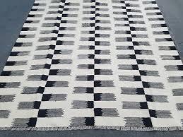 black and white new kilim rug flatweave tribal geometric carpet 5 7 x 8