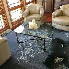 pottery barn bryson persian style 8 x 10 plush wool rug navy
