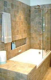 tiled bathtub ideas tiled bathtub tub shower tile ideas glass windows horizontal blind white vanity between