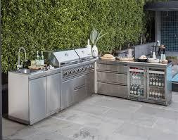 stainless steel outdoor kitchen. New Gasmaster Twin Hood Premium 6 Burner BBQ Outdoors Kitchen By Gasmate Stainless Steel Outdoor O