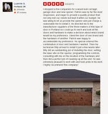 i ped a few companies for a wood look carriage garage door and new opener patrick was by far the most responsive and eager to provide a quality