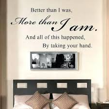 bedroom es all of this happened by taking your hand romantic e wall decal vinyl