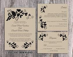 Vintage Wedding Invitation Templates Socialgeist Net
