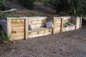 wood retaining wall under deck
