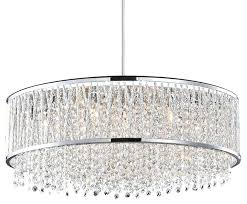 chrome crystal chandelier light chrome crystal chandelier with drum shade modern 10 light chrome and crystal