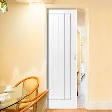 Cottage 5P White Single Pocket Door
