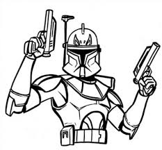 Star Wars Clone Trooper Coloring Pages At Getcoloringscom Free