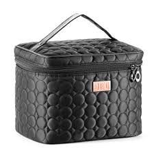 amazon drq large cosmetic bags multifunction portable travel toiletry bag cosmetic makeup bags with mirror for women skincare cosmetic pouch organizer