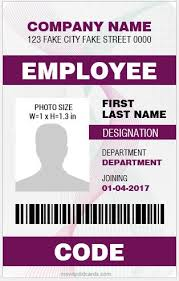 Best 5 Word Card Id Employee Cards Vertical Microsoft Design Templates