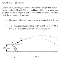 A Team Of Engineering Students Is Designing A Catapult Petition To Add My Dynamics Exam To The List Of Banned Exams