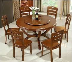 real wood dining table circular dining set newest household solid wood dining tables and chairs of modern minimalist circular dining solid wood round dining