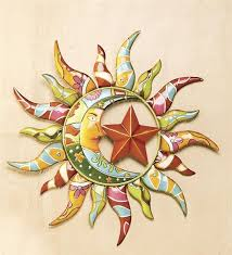 main image for talavera painted metal sun and moon wall art intended for modern household talavera wall decor plan