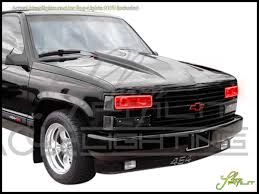 92-99 Chevrolet Suburban LED Halo Rings Headlights Bulbs