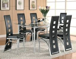 slider 0 glass dining set black setting collection top modern table