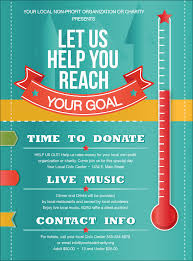 Flyers For Fundraising Events Fundraising Thermometer Flyer