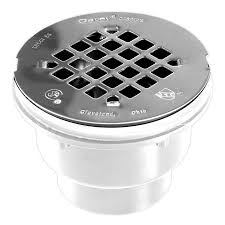 oatey 4 25 in square holes round pvc shower drain