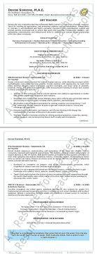 Sample Resume For Art And Craft Teacher