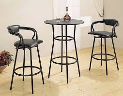 black metal round counter height bar table bar round black bar height table