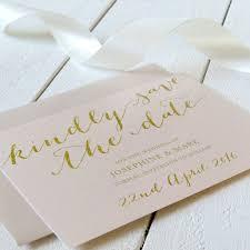 Print Save The Date Cards Elegant Blush Pink And Gold Save The Date Cards Modern Script