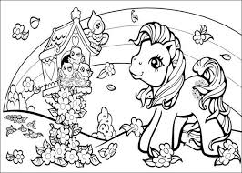In the coloring page, you will see a color white and black but if you want, you can print it and make coloring as you like. My Little Pony Coloring Page Coloring Home