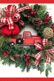 #christmas #wreath #rustic #farmhouse #country #pickuptrucks #truck #farm # decor #promoted #etsy | Pinterest | Rustic far