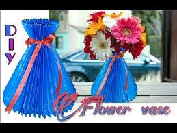 Paper Flower Pots Diy How To Make Paper Flower Vase Flower Pot