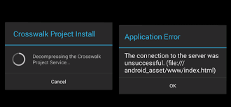 Ionic Crosswalk Application Error and other stuffs - Stack Overflow