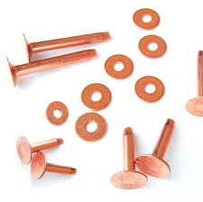 copper rivets and burrs 20 piece 10 1