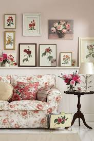 Romantic Living Room With Rose Patterns Everywhere  Interior Design Ideas  For Own, Private,