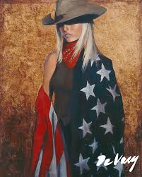 western decor painting all american by david devary