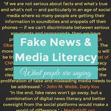 Literacy Quotes Unique Fake News And Media Literacy What People Are Saying The LAMP