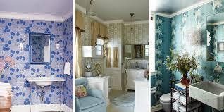 15 Bathroom Wallpaper Ideas - Wall Coverings for Bathrooms - Elle Decor