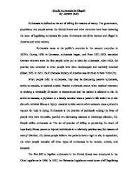 a persuasive essay on euthanasia how to write an argumentative essay on euthanasia thepensters